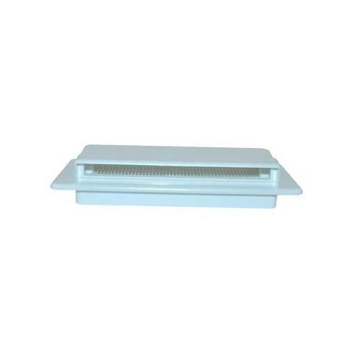grille ext rieure a ration plastique 205x75 mm blanche roadloisirs. Black Bedroom Furniture Sets. Home Design Ideas