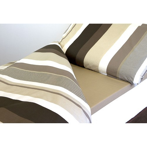 Zoom sur Duvalay Coffee Cream bedding 66 x 190 x 2.5 cm