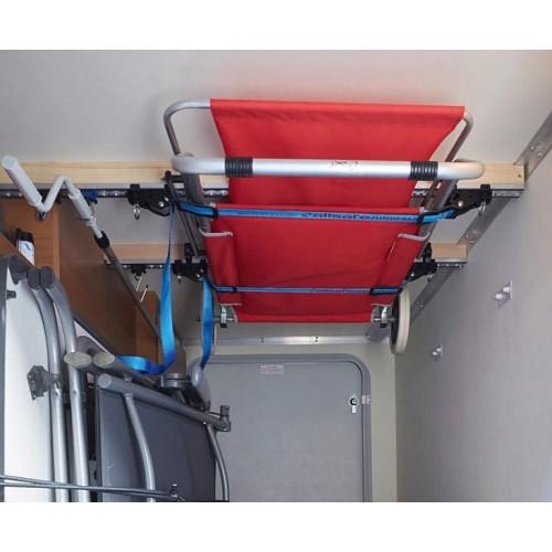 Zoom sur Système de rangement au plafond pour soute - largeur: 103 cm