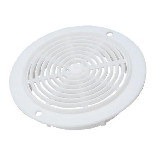 Zoom sur Grille aération rond 78 mm blanc en plastique