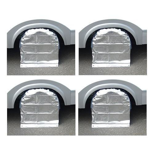Zoom sur Kit de 4 protections de roue 14 pouces - caravane & remorque