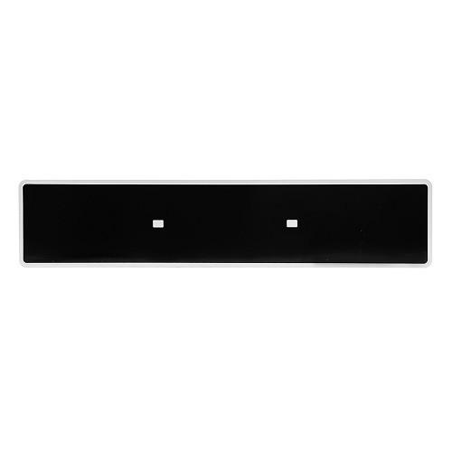 plaque d immatriculation auto siv aluminium noire 520 x 110 mm. Black Bedroom Furniture Sets. Home Design Ideas