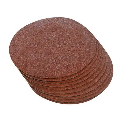 10 self-attaching abrasive discs - 180 mm - grain: 240