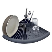 Dish drainer with grey corners